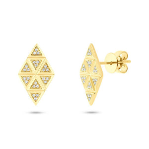 14k Yellow Gold Diamond Earring - 0.10ct