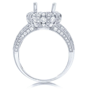 18k White Gold Diamond Semi-mount Ring - 1.80ct