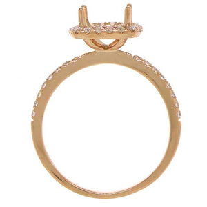 14k Rose Gold Diamond Semi-mount Ring - 0.38ct