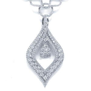 14k White Gold Diamond Necklace - 4.08ct