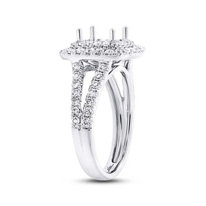 14k White Gold Diamond Semi-mount Ring - 1.04ct