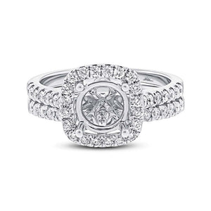 14k White Gold Diamond Semi-mount Ring 2-pc - 0.68ct