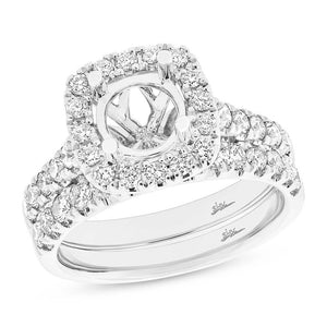 14k White Gold Diamond Semi-mount Ring 2-pc - 1.25ct