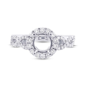 14k White Gold Diamond Semi-mount Ring - 0.60ct
