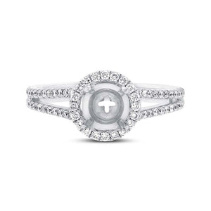 18k White Gold Diamond Semi-mount Ring - 0.55ct