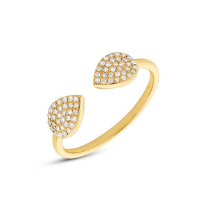 14k Yellow Gold Diamond Lady's Ring - 0.18ct