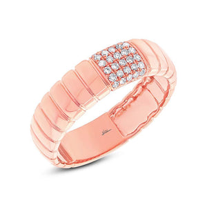 14k Rose Gold Diamond Lady's Ring - 0.14ct