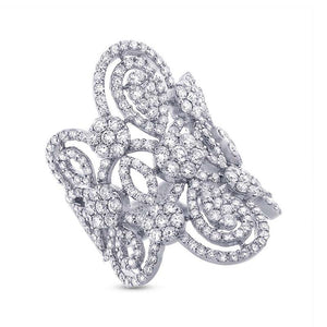 18k White Gold Diamond Lady's Ring - 4.43ct