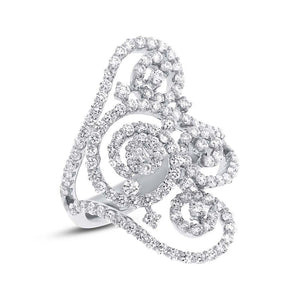18k White Gold Diamond Lady's Ring - 1.89ct