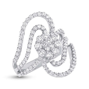18k White Gold Diamond Lady's Ring - 1.83ct
