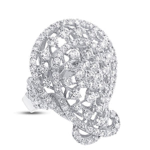 18k White Gold Diamond Lady's Ring - 4.28ct