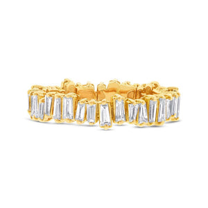 14k Yellow Gold Diamond Baguette Lady's Band