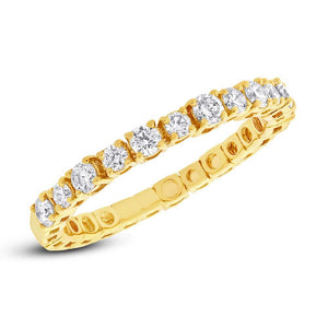 14k Yellow Gold Diamond Lady's Band