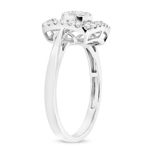 18k White Gold Diamond Baguette Lady's Ring - 0.75ct