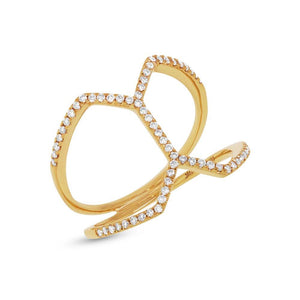 14k Yellow Gold Diamond Lady's Ring - 0.29ct