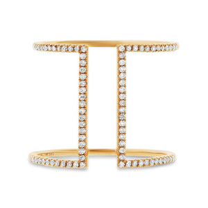 14k Yellow Gold Diamond Lady's Ring - 0.22ct