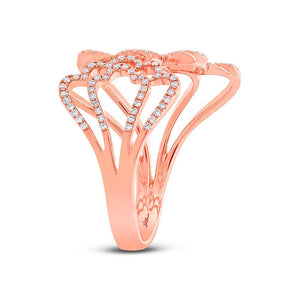 14k Rose Gold Diamond Lady's Ring - 0.31ct
