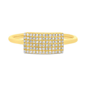 14k Yellow Gold Diamond Lady's Ring - 0.21ct