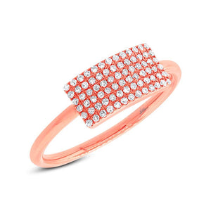 14k Rose Gold Diamond Lady's Ring - 0.21ct