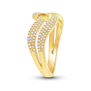 14k Yellow Gold Diamond Lady's Ring - 0.35ct