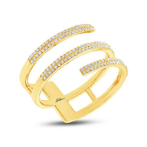 14k Yellow Gold Diamond Lady's Ring - 0.30ct