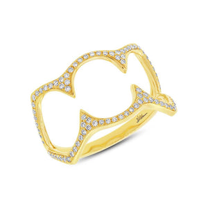 14k Yellow Gold Diamond Lady's Ring - 0.23ct