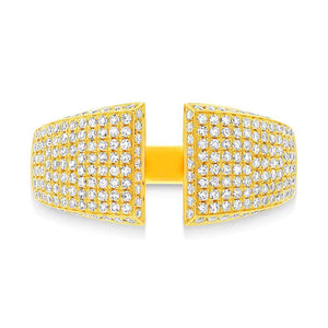 14k Yellow Gold Diamond Pave Lady's Ring - 0.60ct