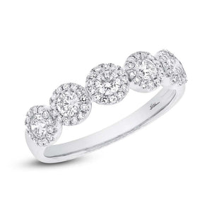 14k White Gold Diamond Lady's Ring - 0.57ct