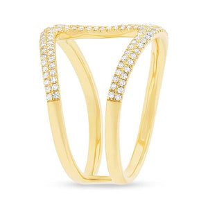 14k Yellow Gold Diamond Lady's Ring - 0.54ct