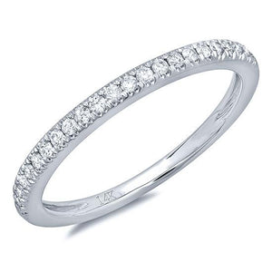14k White Gold Diamond Lady's Band