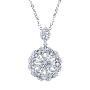 18k White Gold Diamond Pendant - 1.91ct