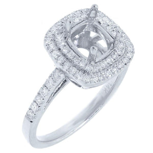 14k White Gold Diamond Semi-mount Ring - 0.43ct