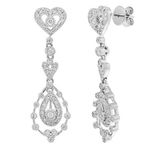 14k White Gold Diamond Earring - 0.73ct