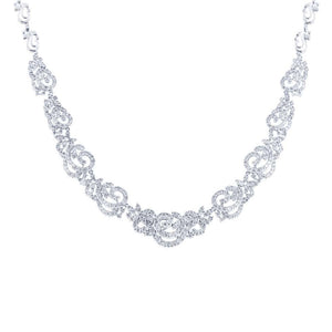 18k White Gold Diamond Necklace - 15.06ct
