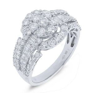18k White Gold Diamond Lady's Ring - 2.00ct