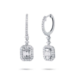 18k White Gold Diamond Earring - 1.05ct
