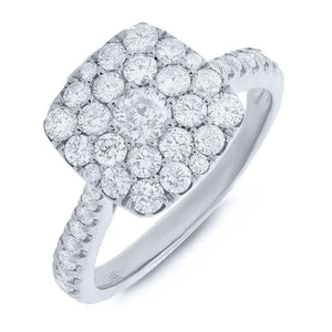 14k White Gold Diamond Lady's Ring - 1.35ct