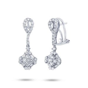 18k White Gold Diamond Earring - 1.14ct