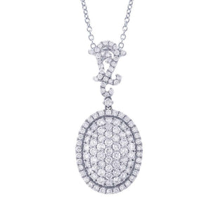 18k White Gold Diamond Pendant - 3.18ct