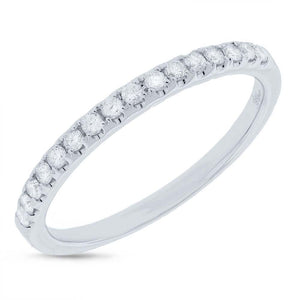 14k White Gold Diamond Lady's Band - 0.24ct
