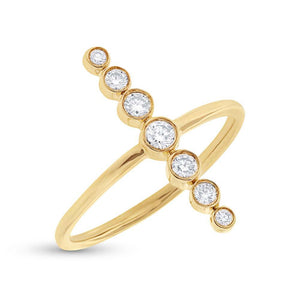 14k Yellow Gold Diamond Lady's Ring - 0.26ct