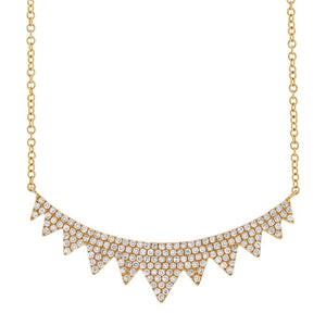 14k Yellow Gold Diamond Necklace - 0.45ct