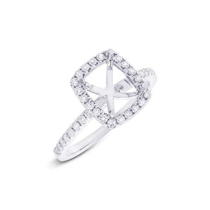 14k White Gold Diamond Semi-mount Ring - 0.35ct