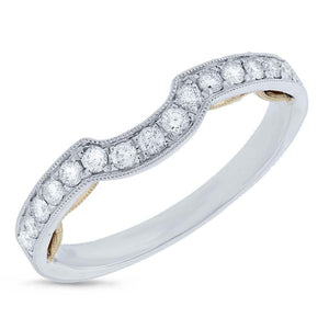 14k Two-tone Gold Diamond Shadow Band - 0.32ct