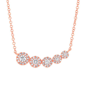 14k Rose Gold Diamond Pendant - 0.32ct