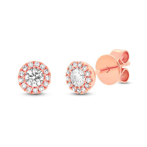 14k Rose Gold Diamond Stud Earring - 0.29ct