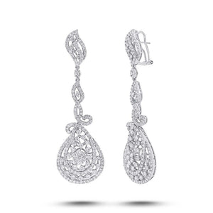 18k White Gold Diamond Earring - 8.74ct