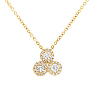 14k Yellow Gold Diamond Pendant - 0.23ct