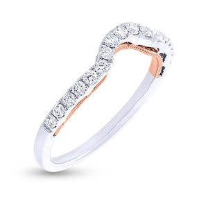 14k Two-tone Rose Gold Diamond Shadow Band - 0.31ct