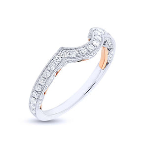 14k Two-tone Rose Gold Diamond Shadow Band - 0.51ct